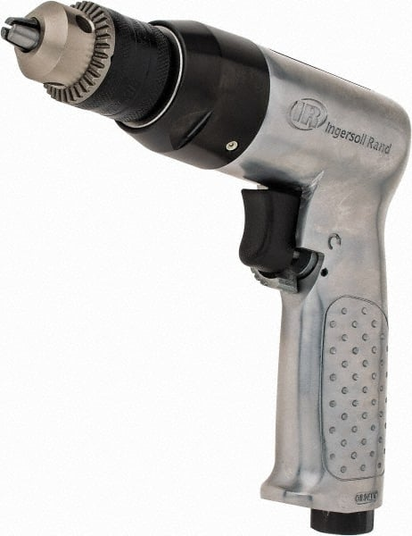 """3//8 /"""" Drive Air Powered Reversible Drill with Keyless Chuck 10 mm"""