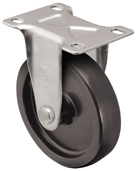 """Set of 4 Faultless 7742-3 Rigid Plate 3/"""" Casters With Metal Mounting Plate"""