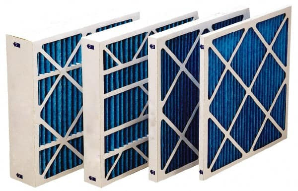 Made in USA Synthetic Wire-Backed Pleated Air Filter 20 Pack 15 Nom Height x 20 Nom Width x 1 Nom Depth