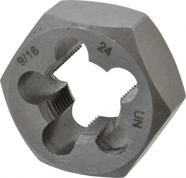 "9//16/""-18 CARBON STEEL HEXAGONAL RE-THREADING DIE"