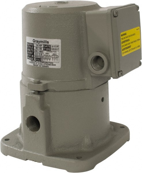 Graymills - 230/460 Volt, 1/4 hp, 3 Phase, 3,450 RPM, Cast