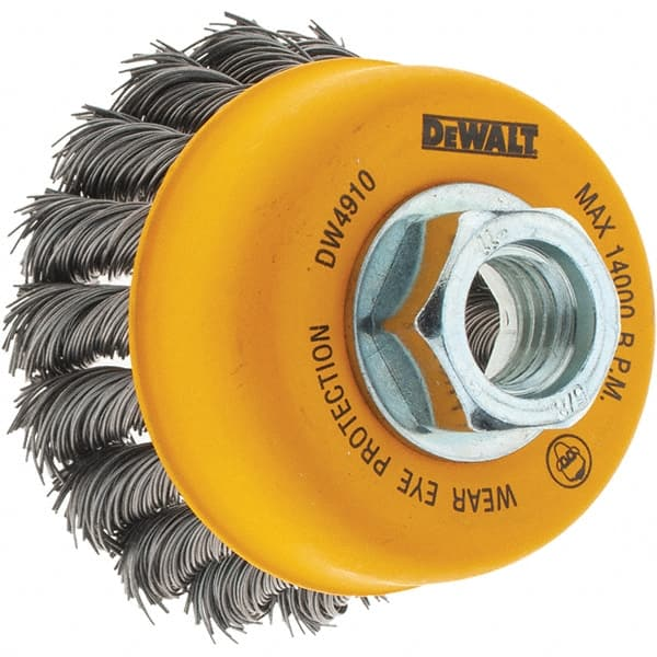 Quantity 6 DeWalt DW4910 3 x 5//8-11 Knotted Wire Cup Brush
