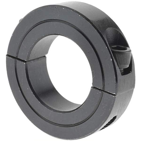 Climax Metal 2C-112 Steel Two-Piece Clamping Collar 1-1//8 Bore Size 1-7//8 OD Black Oxide Plating With 1//4-28 x 3//4 Set Screw