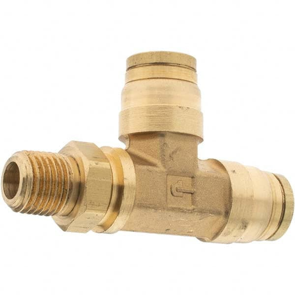 Brass Fitting Tube to Pipe 1//4 and 3//8 Push-to-Connect and NPTF Run Tee Rigid Pack of 20 1//4 and 3//8 Parker 171PMTNS-4-6-4-pk20 Brass Push-to-Connect D.O.T Pack of 20