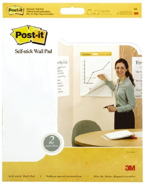 White Unruled Pack of 20 x 23 Inches Post-it Self-Stick Easel Pad 20 Sheets