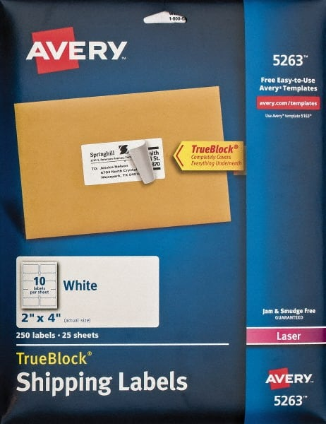 2 shipping labels paper white 81629479 msc