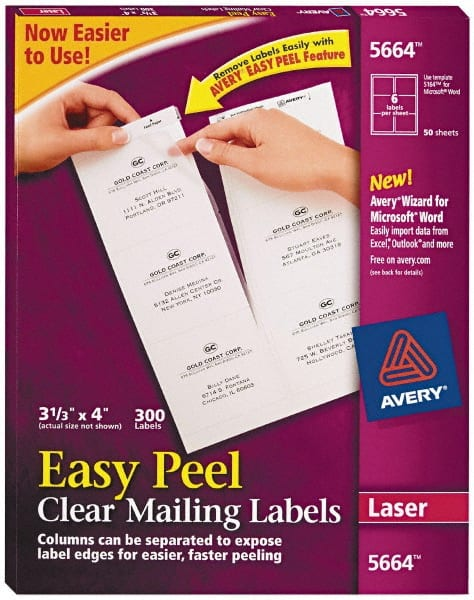 clear mailing label 81629487 msc