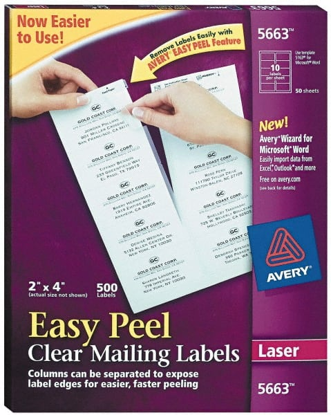 2 Wide X 4 Long Clear Shipping Label 81629495 Msc