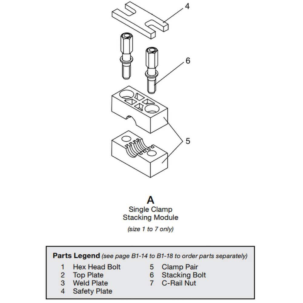 hydac 1p steel plastic pipe clamp weld mount
