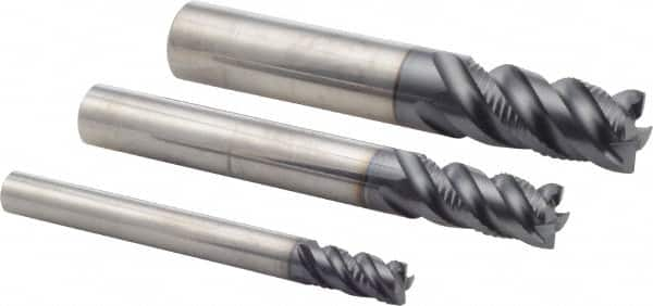 1//2 x 1//2 Size Cobalt Morse Cutting Tools 44571 Double End Mills 2 Flutes Center Cutting Bright Finish
