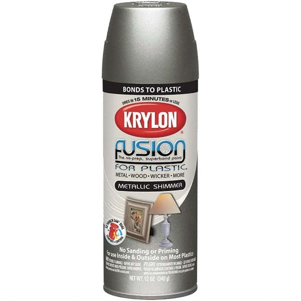 Krylon Nickel Metallic Direct To Plastic Spray Paint 84144351 Msc Industrial Supply