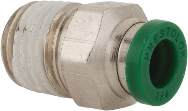 Push-to-Connect and BSPP Female Pipe Connector M5X0.8 mm 4 mm Parker 66LF-4M-M5-pk5 Push-to-Connect Nickel Plated Instant Fitting Nickel Plated Brass Tube to Pipe Pack of 5