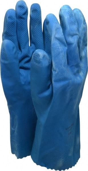 """9 Supported Ansell Size L 15/"""" Long 17 mil Thick Nitrile Chemical Resist..."""