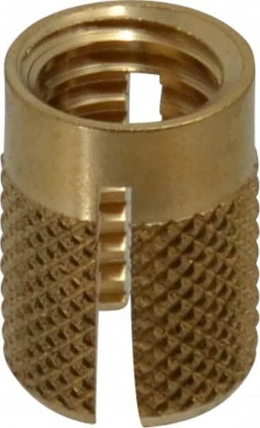 1 Each Brass Headless E-Z Lok Press Inserts for Plastics .188 Lg. Thd. M3 x 0.5 Int