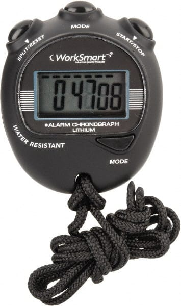 WorkSmart LCD Digital Stopwatch 3 Functions 1//100 Sec Resolution Yellow