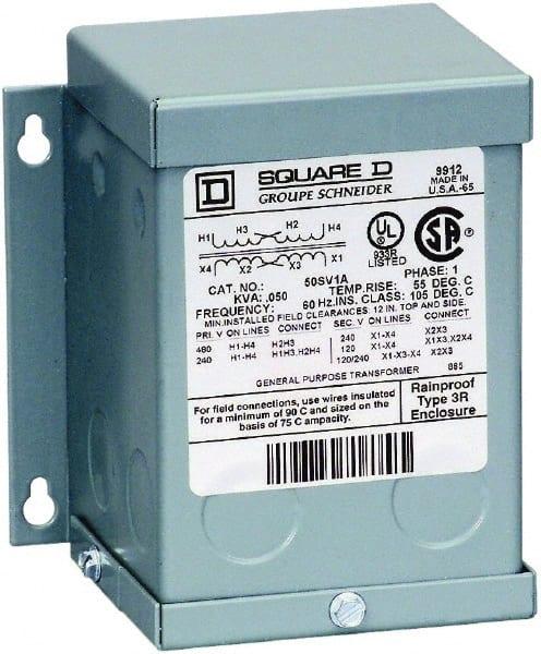 Square D 1 Phase 240 X 480 Volt Input 120 Output
