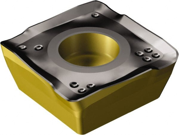 Multi-Layer Coating Sandvik Coromant COROMILL Carbide Milling Insert 490 Style 0.063 Corner Radius Square 490R08T316MPM,0.13 Thick Pack of 10 GC4220 Grade