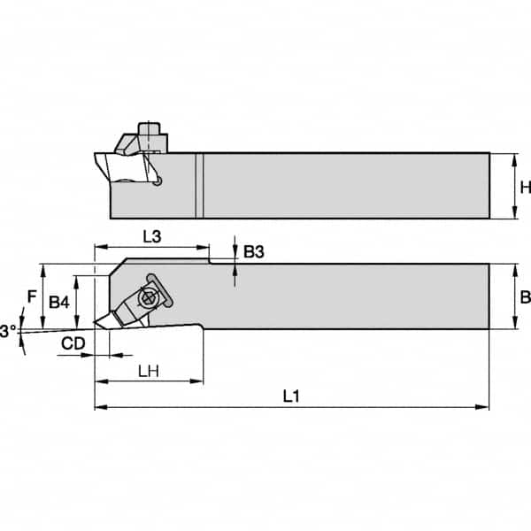 Indexable Threading Toolholders Thread Type Right Hand 3006936 Internal Hand of Holder