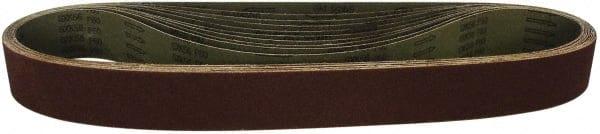 Aluminum Oxide Medium Grade 24 Length VSM 1821 Abrasive Belt 3 Width 3 Width 24 Length VSM Abrasives Co. Cloth Backing Brown 100 Grit Pack of 10
