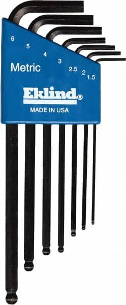 Pack of 5 Eklind 18512 6 mm Stubby-Ball-Hex-L Key,