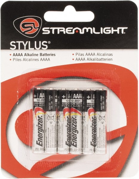 Rechargeable Alkaline Batteries >> Streamlight Size Aaaa Alkaline 6 Pack Standard Rechargeable Battery 88740477 Msc Industrial Supply