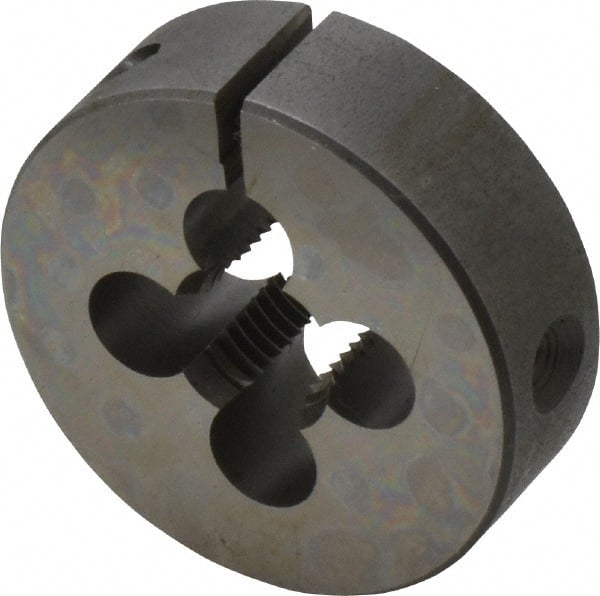 Uncoated Right Cut HSS Coating Greenfield Threading 400187 Round Adjustable Die 1 OD 10-32 UNF Bright