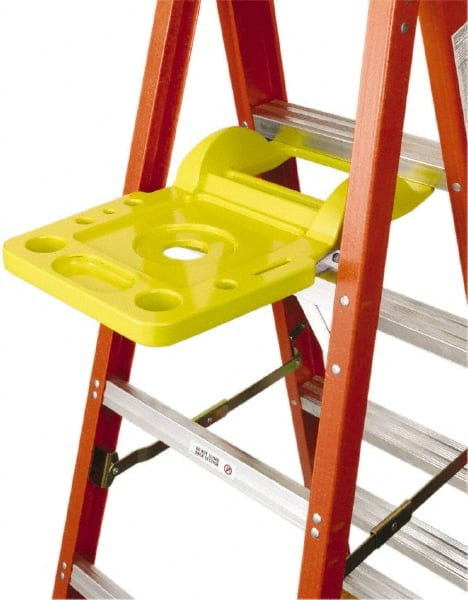 werner yellow pail shelf kit werner ladder access 762 - Werner Ladder