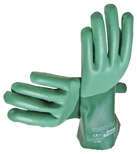 """Nitrile Rubber Gloves 13/"""" Green Tough Chemical Resistant Gauntlets Spraying"""