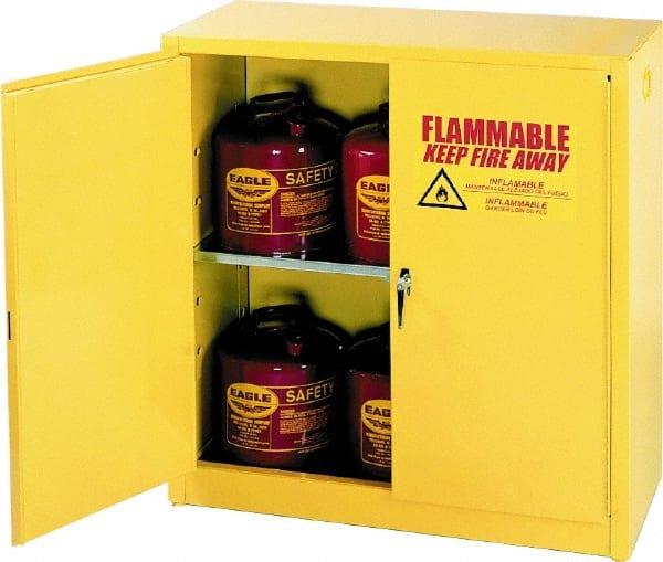 eagle 30 gal sliding door safety storage cabinets
