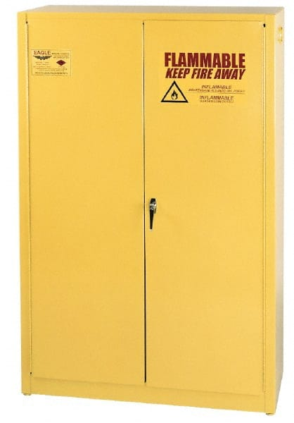 Eagle 2 Door, 2 Shelf, Yellow Steel Standard Safety Cabinet For Flammable  Chemicals