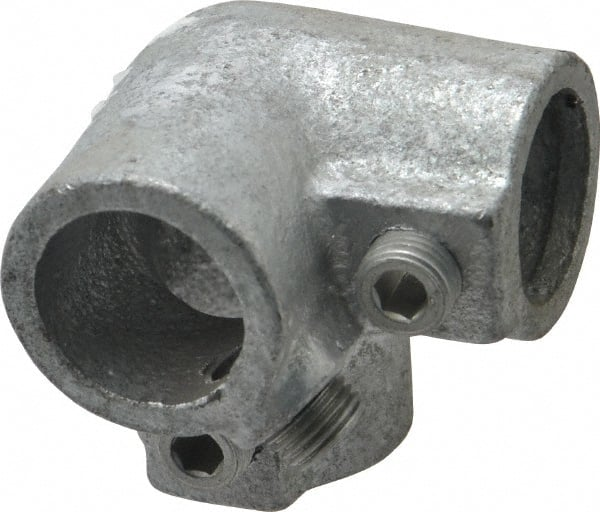 Malleable Iron Pipe Rail Fitting 2 Pack Side Outlet Cross Kee 3//4 Inch Pipe Tee and Elbow