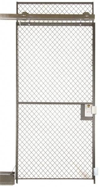 Folding Guard 3\u0027wd 7\u0027h.sliding Door Wire Partition SS7-307