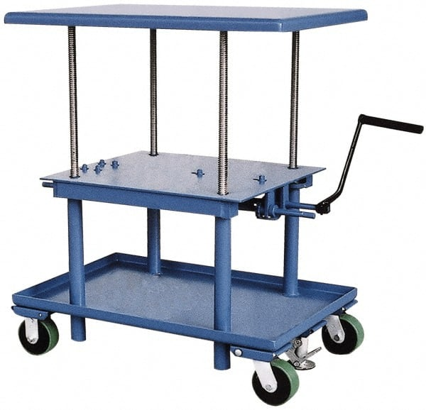 Vestil 2 000 Lb Capacity Mechanical Lift Table 89821649 Msc Industrial Supply