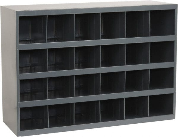 Durham 24 Bin Bin Shelving Unit With Openings   33 3/4 Inch Overall