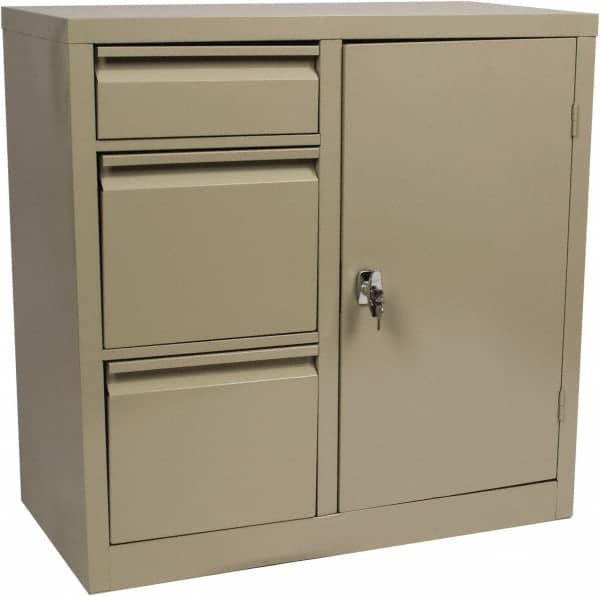 Edsal File U0026 Cabinet Combinations; Type: File/Cabinet Combo ; Color: Putty
