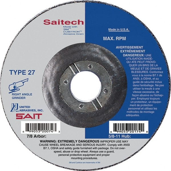 1//4 in Thick 24 Grit Aluminum Depressed Center Wheel 4 1//2 in Dia 152 Pack