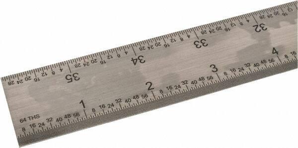 """1//64 Flexible Steel Rule 16R Gr... 1//50 1//32/"""" Graduation 1//100 SPI 36/"""" Long"""