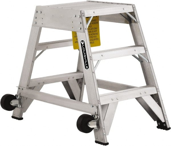 2 Step 36 Inch Overall Height Aluminum 91938472