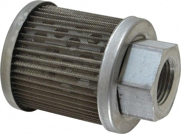 10 1 60 RV3 All Metal Suction Strainer Cast Aluminum Connector End 3 PSI Relief Valve 1 Female NPT Flow Ezy Filters 1 Female NPT 10 GPM 60 Mesh Size Inc