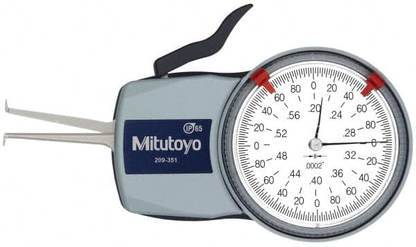 Depth Gauge, Milageto 2 Pcs Measuring Tool Spring Dividers Calipers