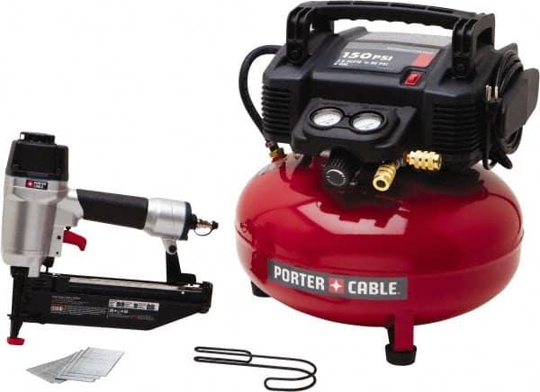 Porter Cable 0 80 Hp 2 6 Scfm At 90 Psi Cfm Pancake Finish Nailer Compressor 92926914 Msc Industrial Supply