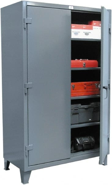 Strong Hold 4 Shelf Locking Storage Cabinet   Steel, 36