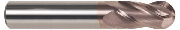 SGS 35304 52 2 Flute High Shear General Purpose End Mill Titanium Carbonitride Coating 3//16 Shank Diameter 9//16 Cutting Length 3//16 Cutting Diameter 2 Length
