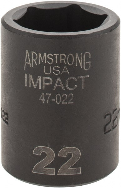 1//2 Inch Armstrong USA 1//2 inch drive 6 point Standard Impact Socket