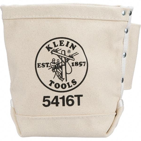 Pocket White Canvas Bolt Bag