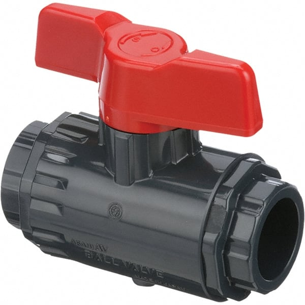 Red-White Valve 12RW5595ABW Lead Free Residential Full Port Ball Valve with Wing Handle 1//2 1//2 Standard Plumbing Supply 2 Piece