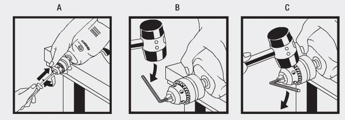 mounting drill chuck